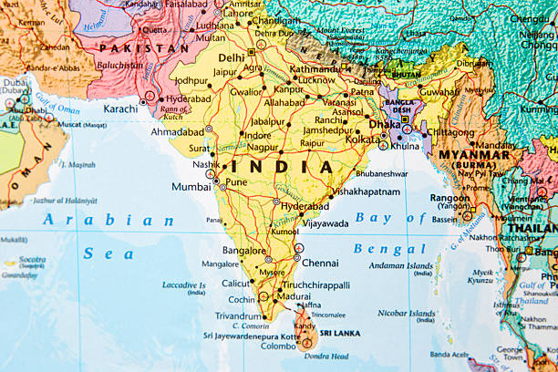 Royalty free indian subcontinent pictures images and stock photos map stock photo gumiabroncs Gallery