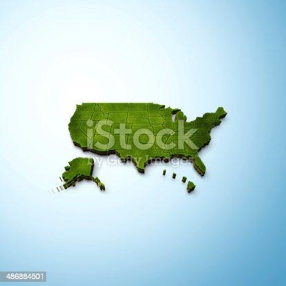 istock USA Map 486884501