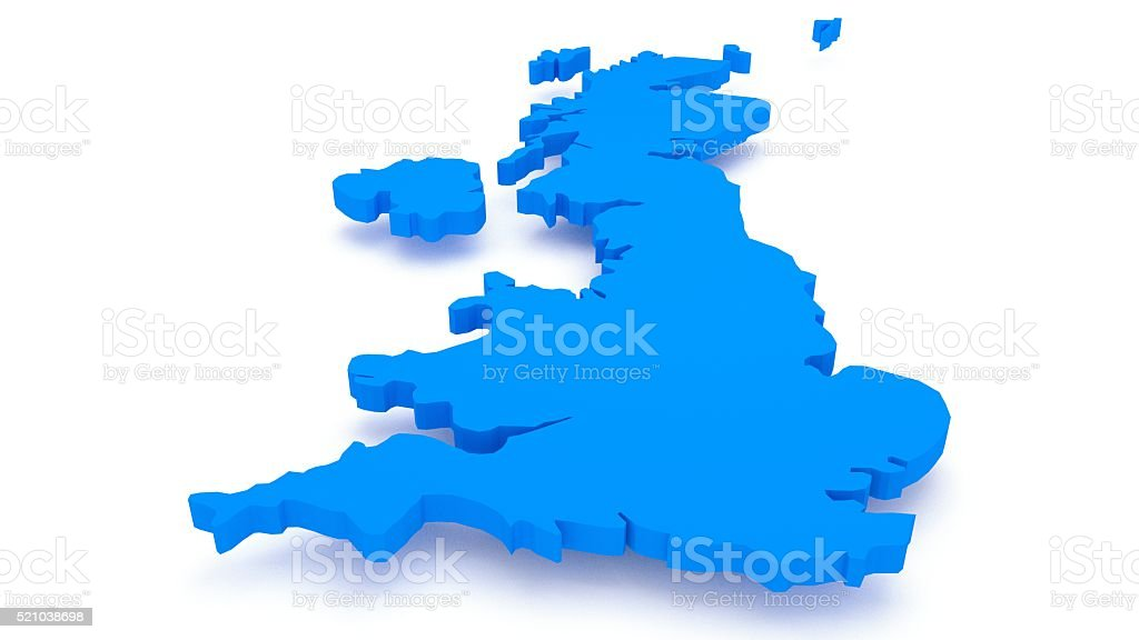 UK map stock photo
