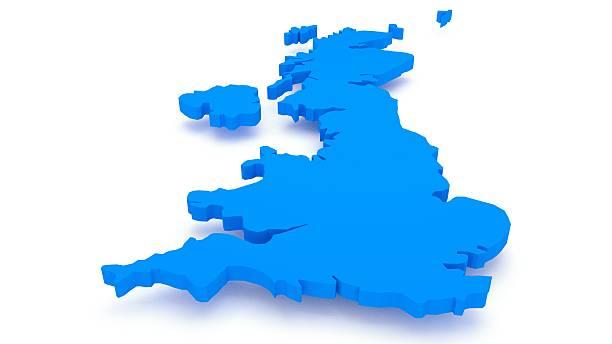 UK map stock photo
