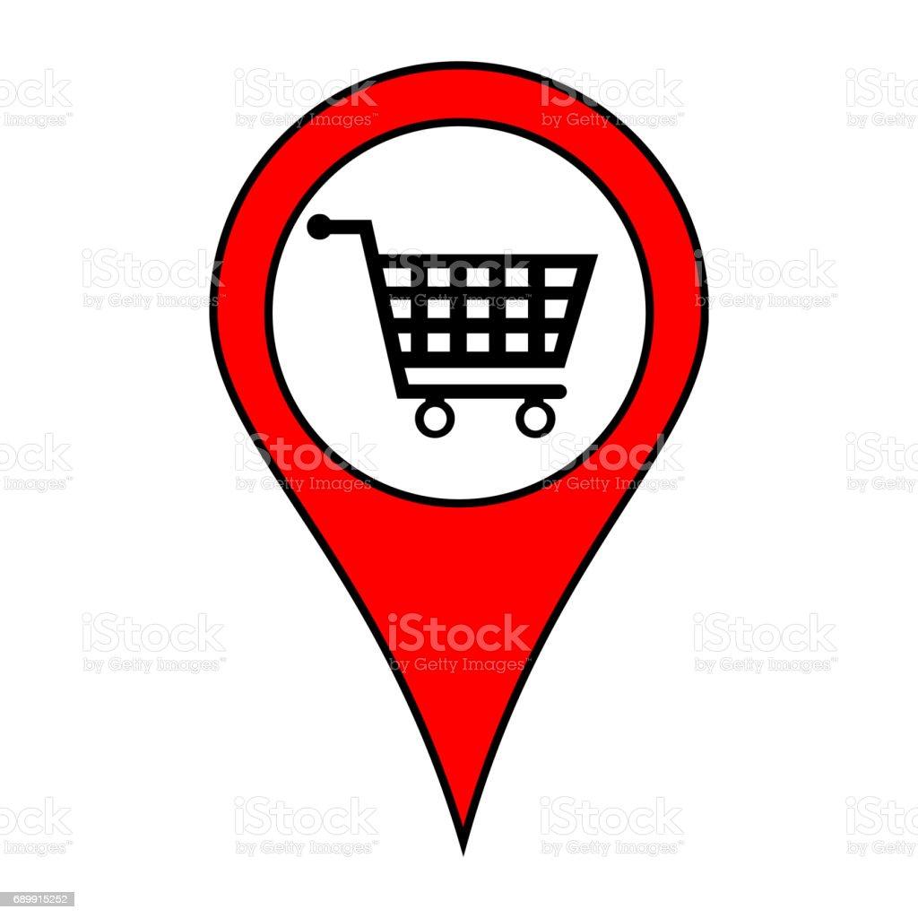 Karte Pin Lage Poi Shop Stockfoto und mehr Bilder von Einkaufen