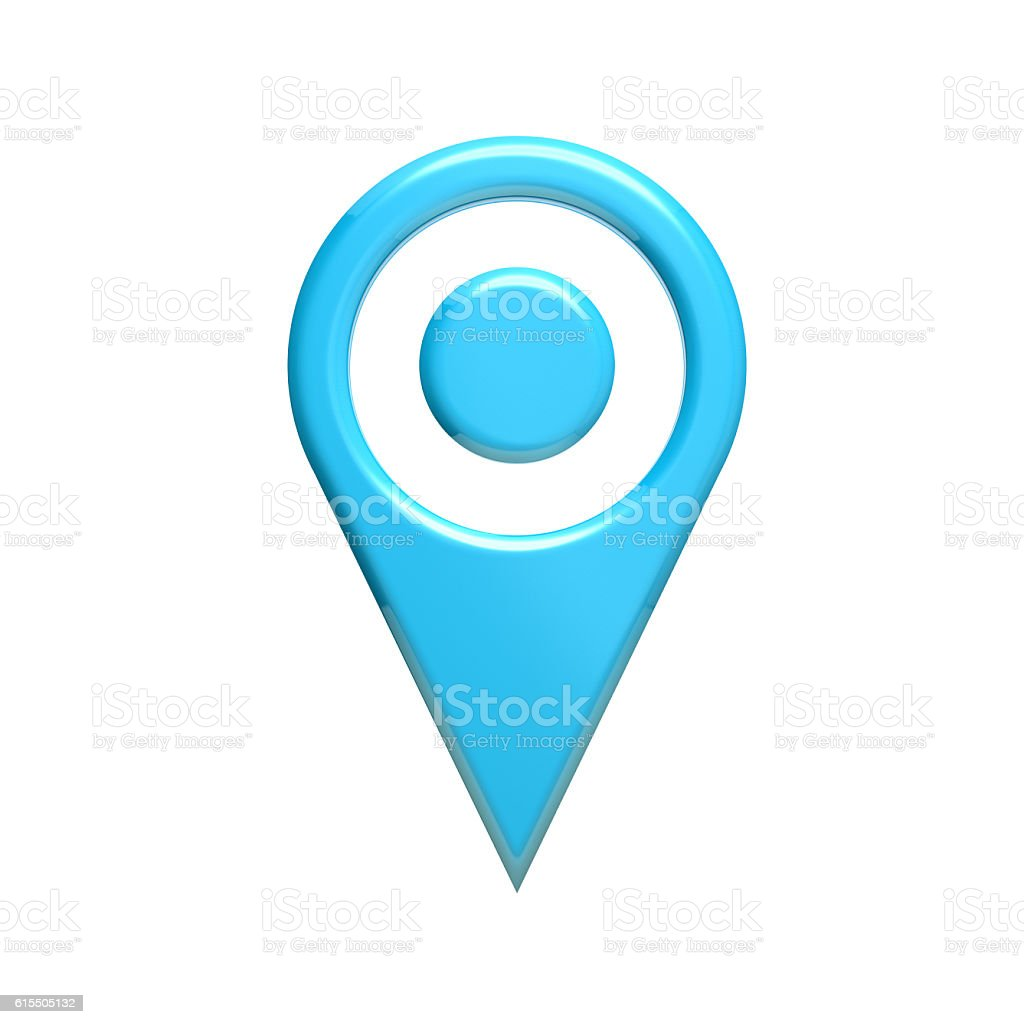 Map Pin Locatot. 3D Render Illustartion stock photo