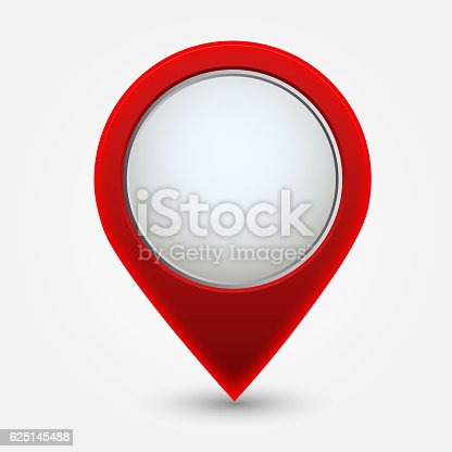 istock Map pointer icon , Red 625145488