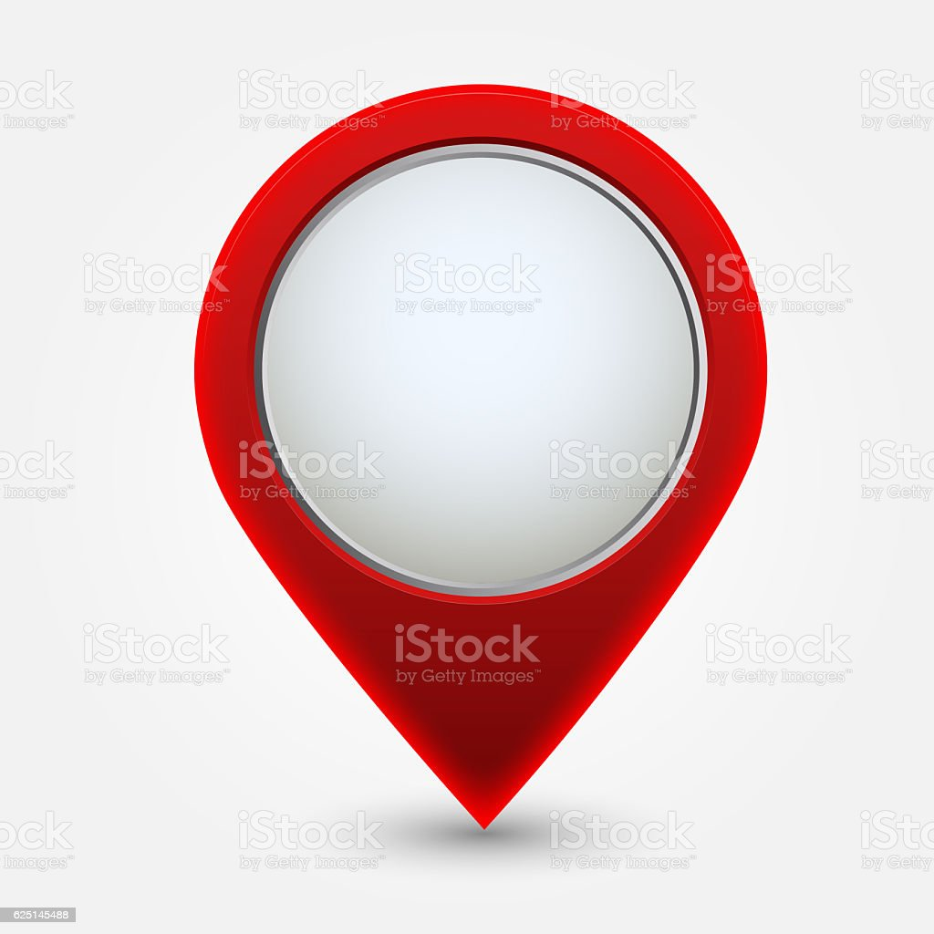 Map pointer icon , Red vector art illustration
