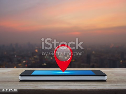 istock Map pointer navigation concept 842177440