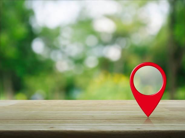 Map pointer navigation concept stock photo