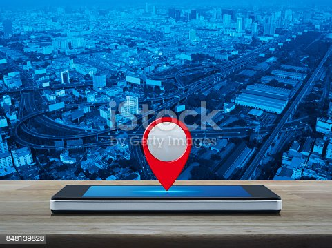 istock Map pointer navigation concept 848139828