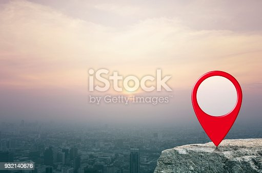 istock Map pointer navigation concept 932140676