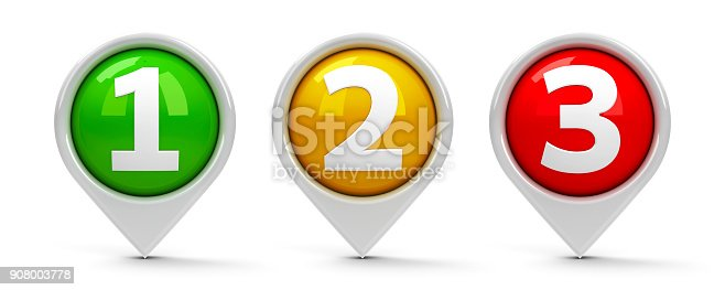 istock Map pointers 1 2 3 908003778