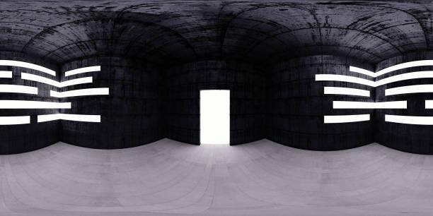 Salle de carte HDRI, fond de panorama sphérique environnement, light source rendering (rendu 3d d'équirectangulaire) - Photo