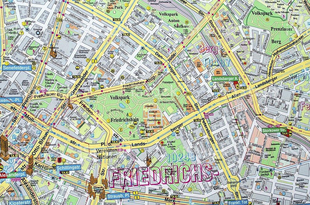 Karte mit Ost und West Berlin – Foto