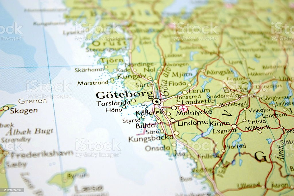 Map showing gteborg in sweden stock photo more pictures of map showing gteborg in sweden royalty free stock photo gumiabroncs Choice Image