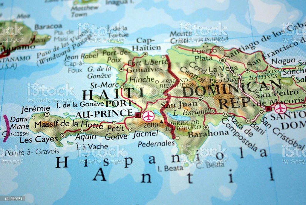 Mapa showimg hait y la repblica dominicana fotografa de stock y mapa showimg hait y la repblica dominicana foto de stock libre de derechos gumiabroncs Gallery