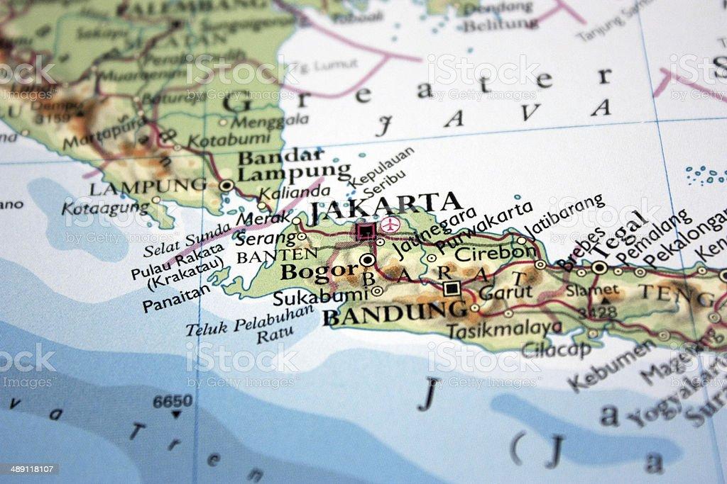 Karte Mit Jakarta In Indonesien Stockfoto und mehr Bilder ...
