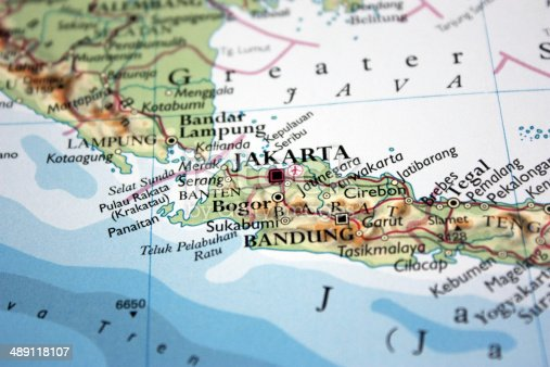 Map showing jakarta in indonesia stock photo istock gumiabroncs Images