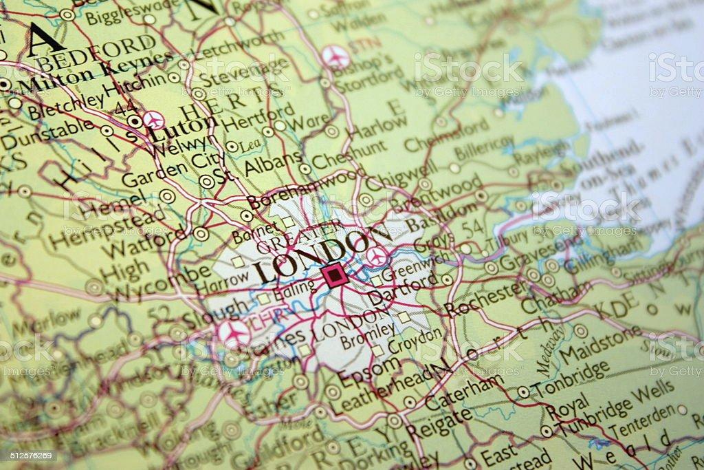 Cartina Stradale Londra.Mostra Mappa Di Londra Nel Regno Unito Fotografie Stock E Altre Immagini Di Carta Geografica Istock