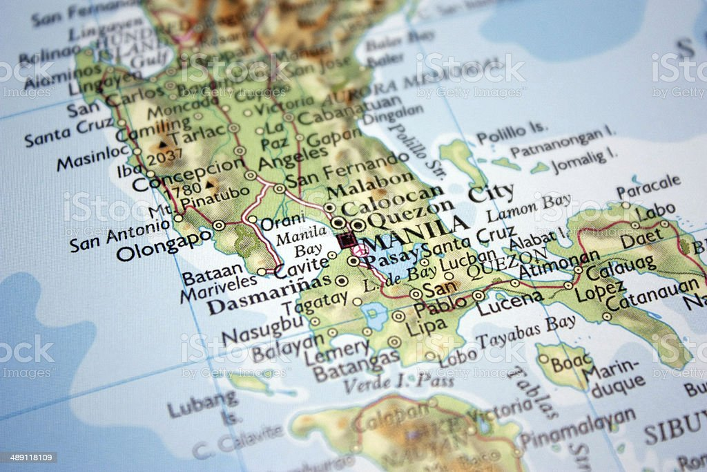 Manila Philippines World Map.Map Showing Manila Capital Of The Philippines Stock Photo More
