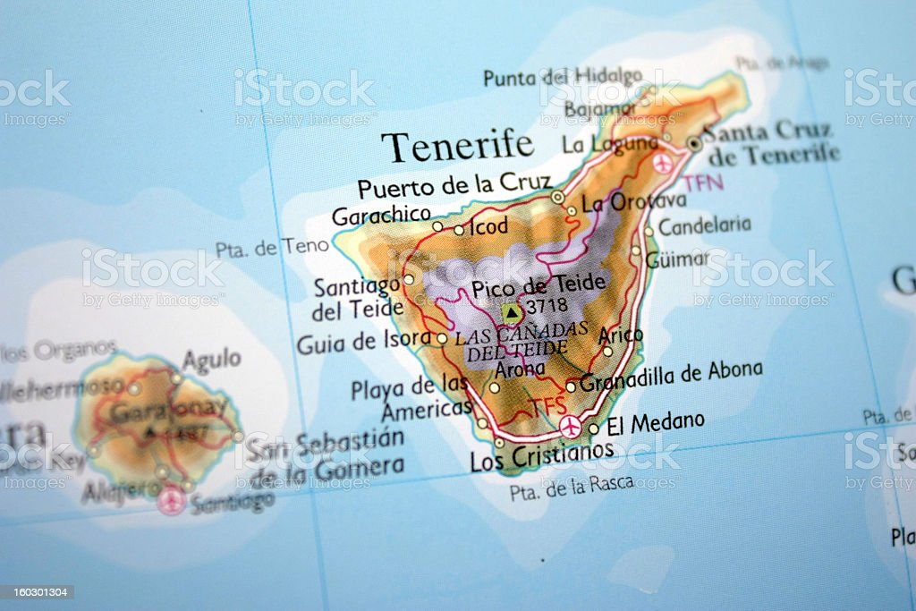 Map Showing Tenerife Stock Photo & More Pictures of Atlantic Islands ...