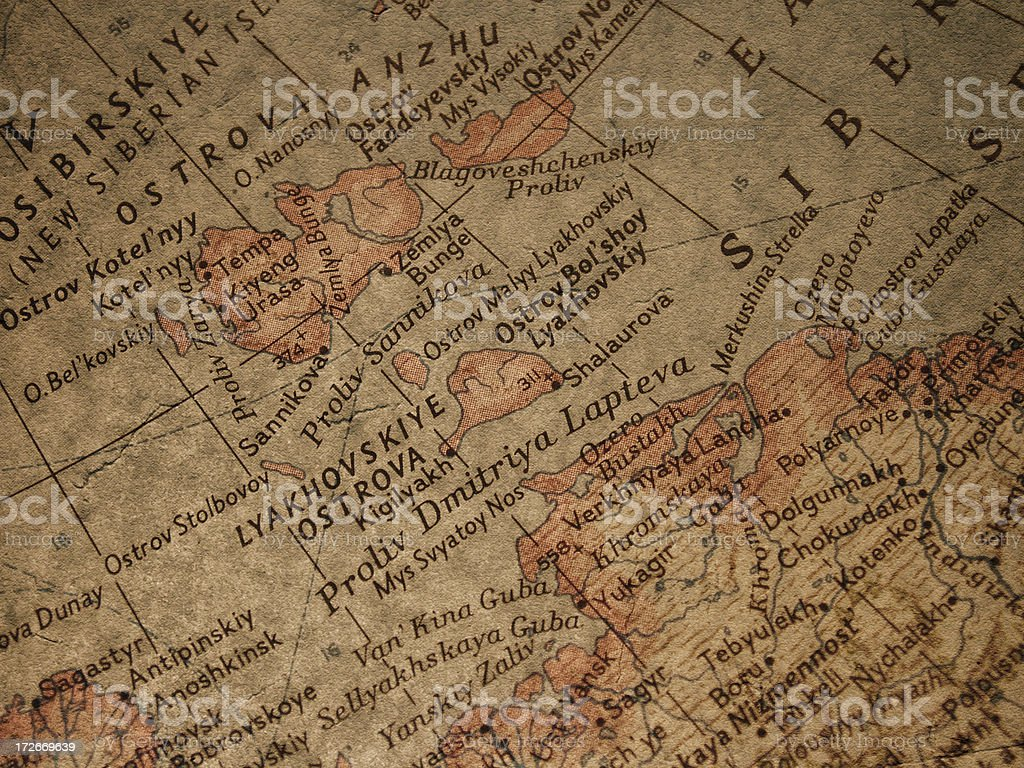 Map - Siberia stock photo