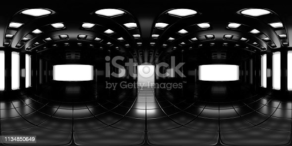 istock 8K HDRI map, spherical environment panorama background, modern high contrast interior light source rendering (3d equirectangular rendering) 1134850649