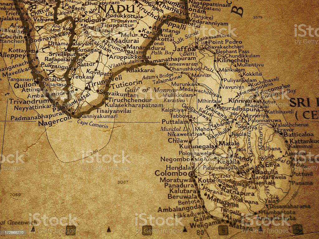 Map - Sri Lanka stock photo
