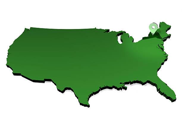 USA Map - State Locator - New York State stock photo