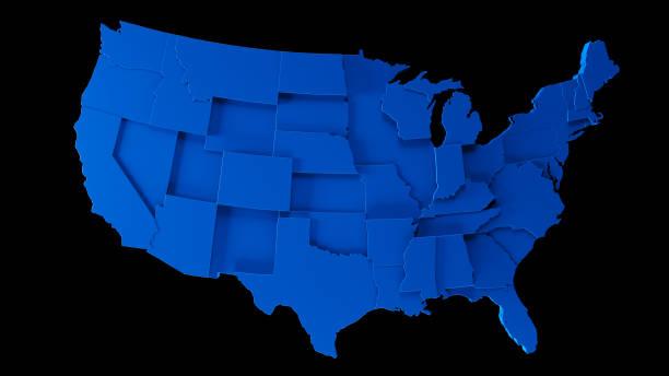 mapa de ee.uu. - estados - us map fotografías e imágenes de stock