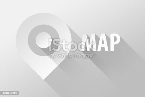 istock Map tag location pin icon and widget 3d illustration 450423089