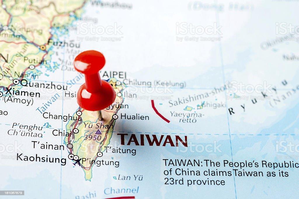 Map Taiwan royalty-free stock photo