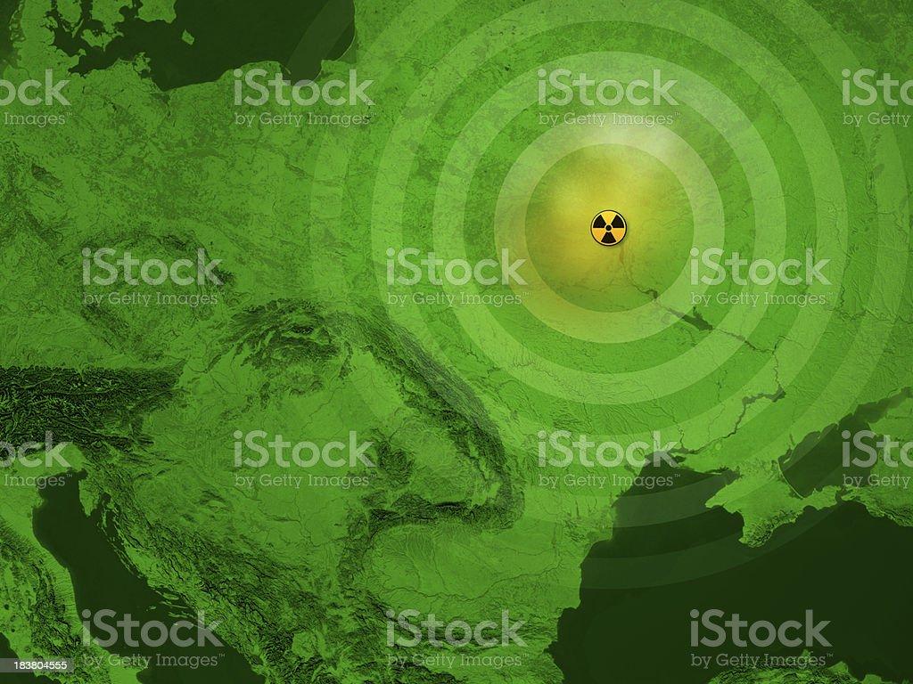 Map Ukraine Chernobyl Nuclear Disaster Stock Photo