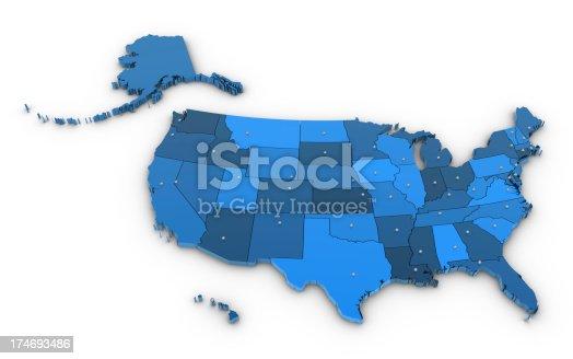 istock Map USA 174693486