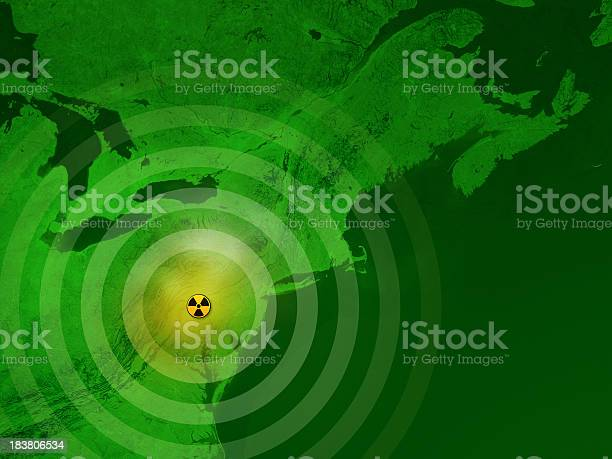 Map USA Three Mile Island Nuclear Disaster