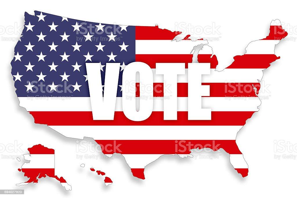 Usa Map Voting Background Stock Photo More Pictures Of American - Us Map Voting