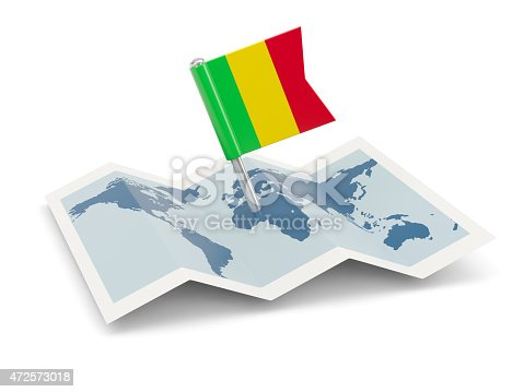 istock Map with flag of mali 472573018