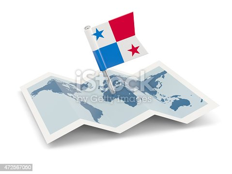 istock Map with flag of panama 472567050