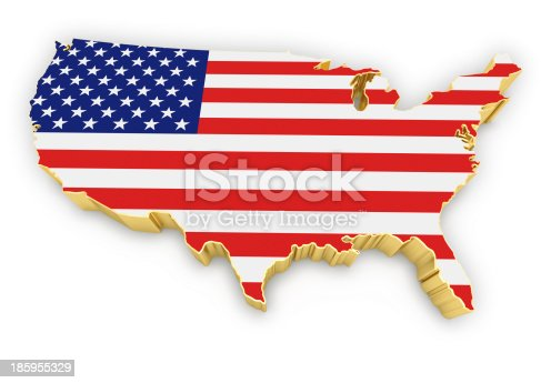 831661634istockphoto USA map with golden border 185955329