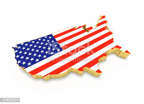 831661634istockphoto USA map with golden border 479222217