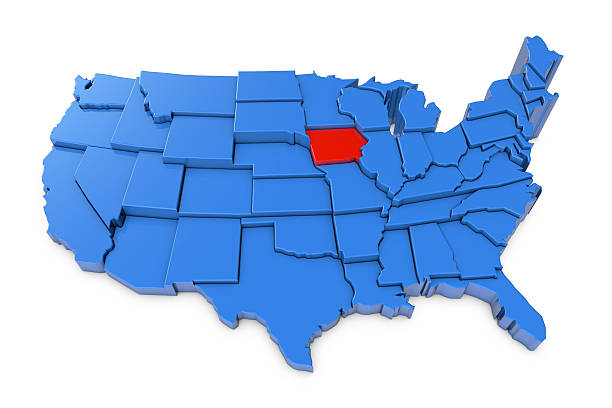 Iowa Map Pictures Images And Stock Photos IStock - Iowa usa map