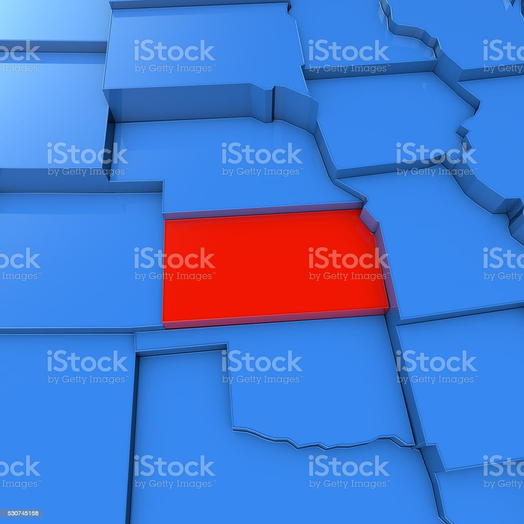 Usa Map With Kansas State Highlighted In Red Stock Photo - Download Kansas State Map Red on kansas counties map, herington kansas map, missouri map, arkansas map, oklahoma map, the state map, colorado map, kansas elevation map, kansas lakes map, usa map, kansas map with all cities, kansas road map, kansas us map, nebraska map, printable kansas map, kansas interstate map, tennessee state map, united states map, kansas small town map, colby kansas map,