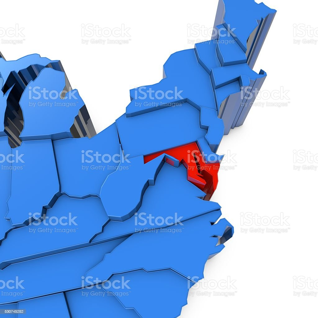 Usa map with maryland state highlighted in red stock photo more usa map with maryland state highlighted in red royalty free stock photo publicscrutiny Choice Image