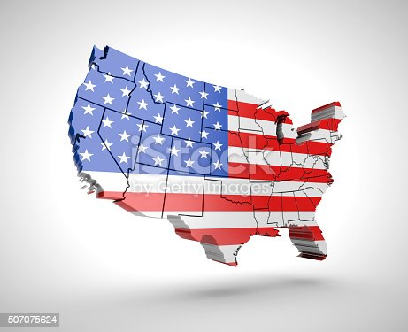 831661634istockphoto U.S. map with shadow effect on a gray background 507075624