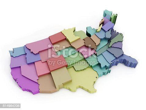 istock USA map with states 514964205