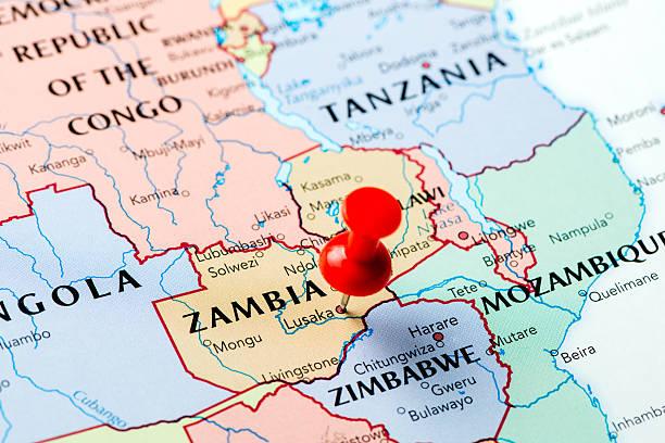 karte sambia - sambia stock-fotos und bilder