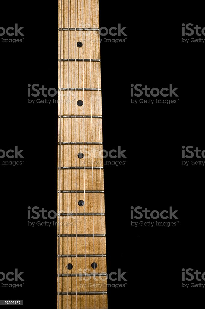 Maple Guitar Fretboard royalty-free stock photo