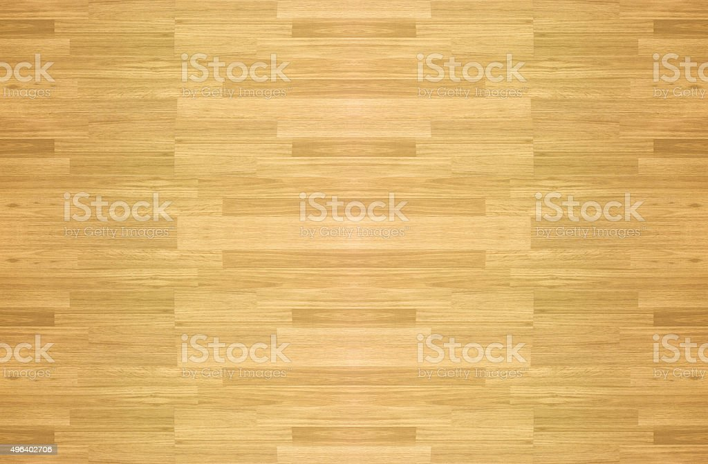 Maple hardwood basketball floor pattern as viewed from above. stock photo