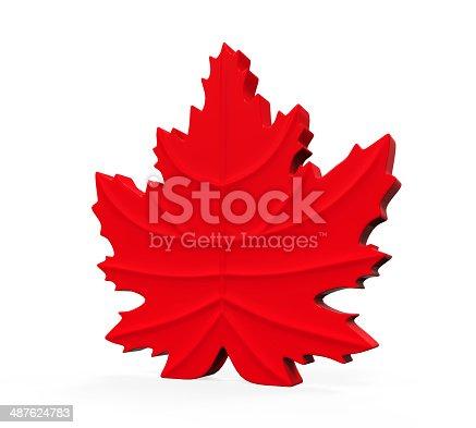 istock Maple Leaf Symbol 487624783