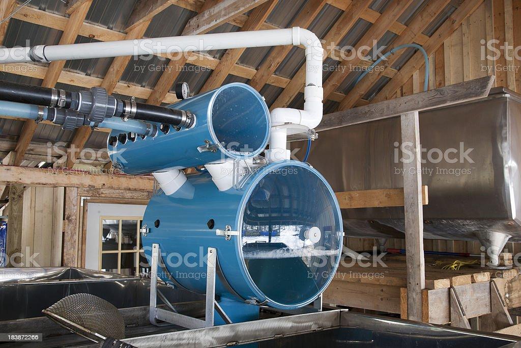 Maple Sap Vacuum System stock photo