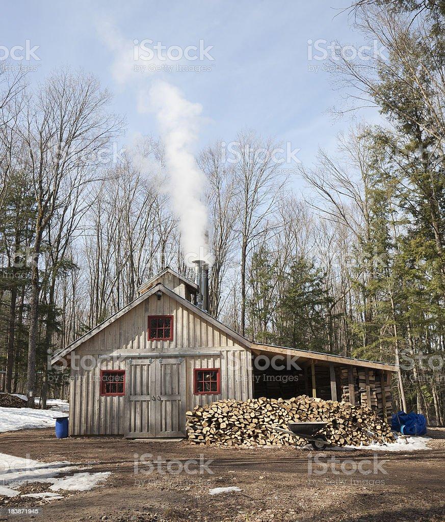Maple Sugar Shack stock photo