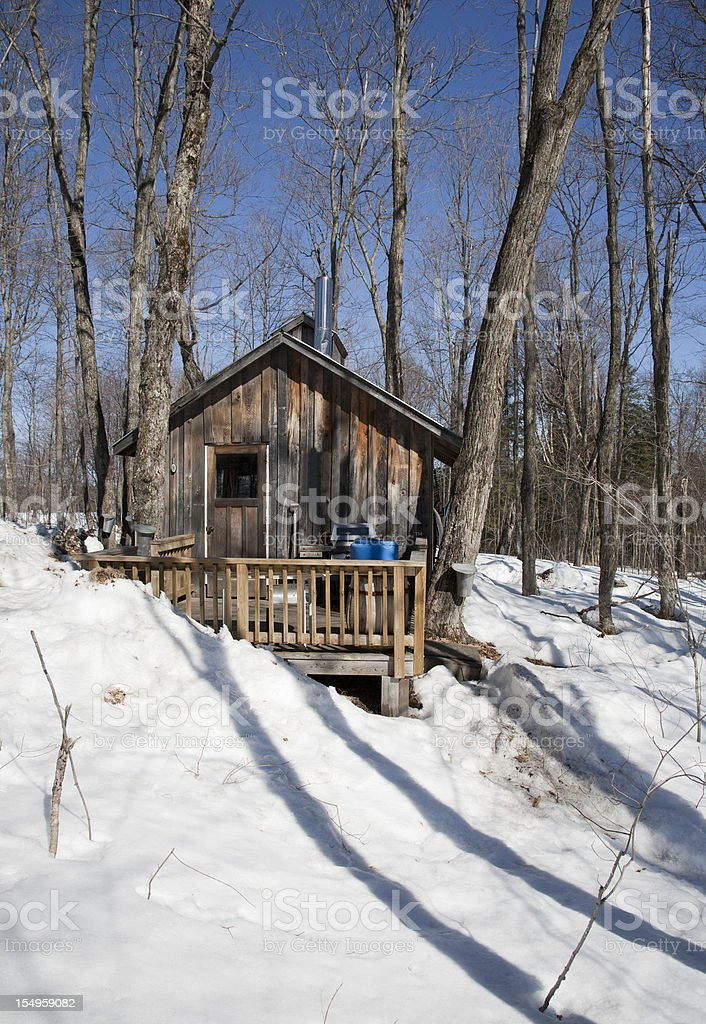 Maple Syrup Boiling Building stock photo