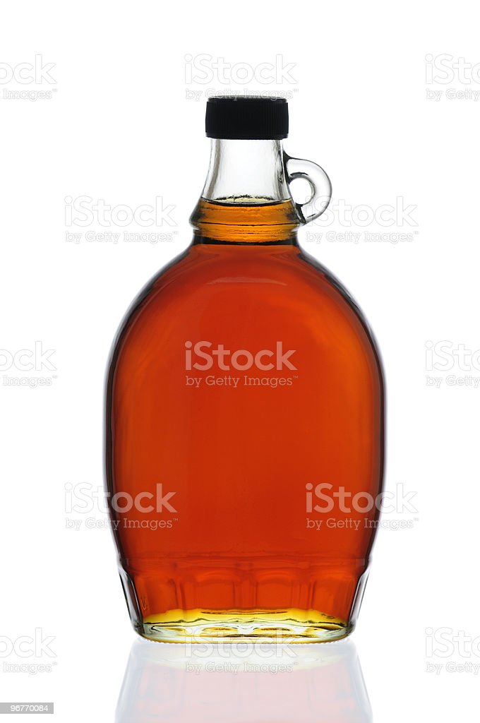Maple Syrup Bottle stock photo